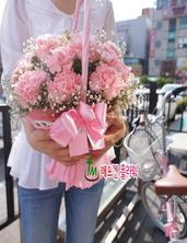 핑크카네이션안개바구니~^^